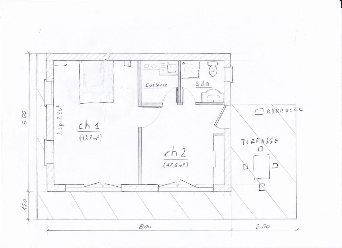 Plan Extension Maison 40m2. Great Etage Prix Maison M With Plan ...