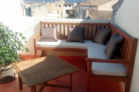 Beau duplex centre-ville avec terrasse vue Ventoux