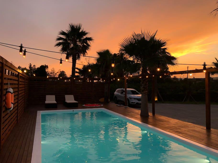 Outdoor swimming pool opened from June til September