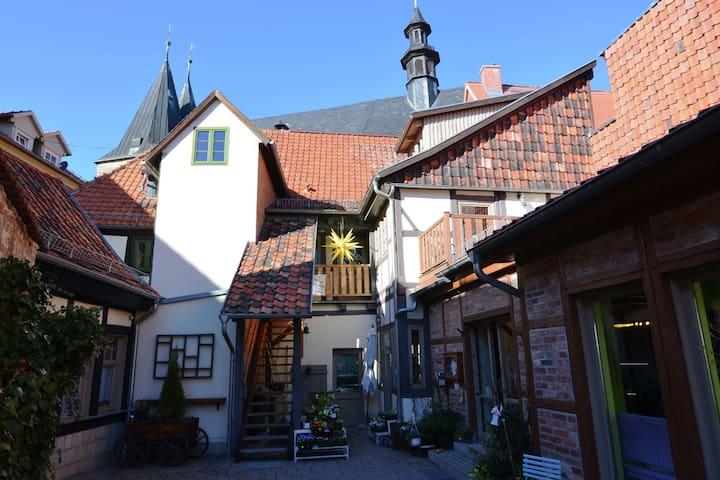Apartamento atractivo en Quedlinburg con vistas al jardín