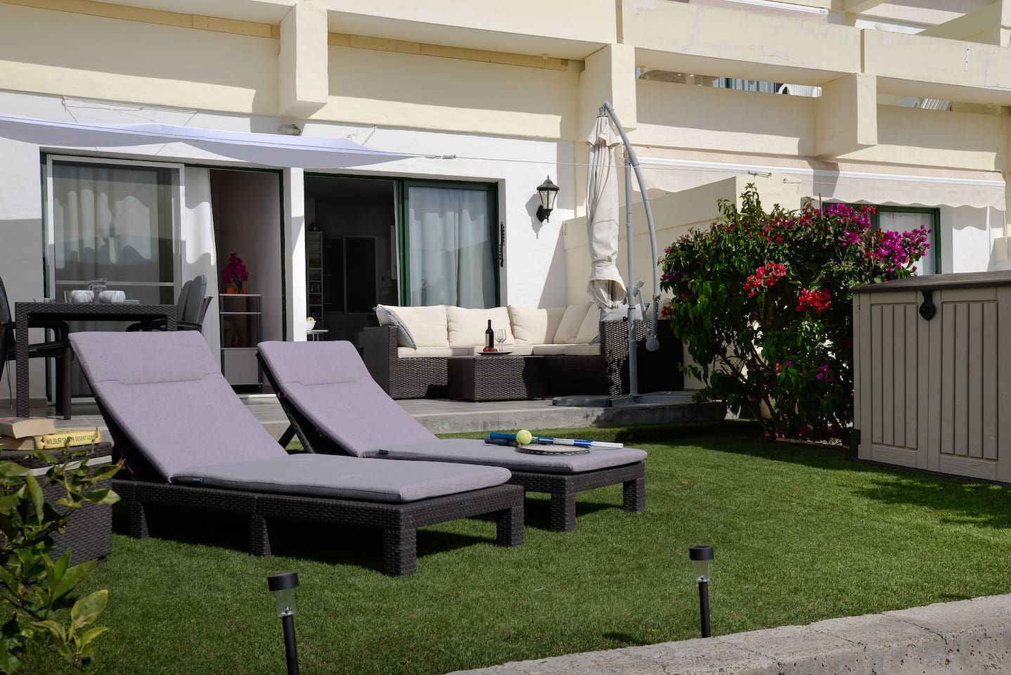 Large terrace where sunbathe, relax & have lunch.