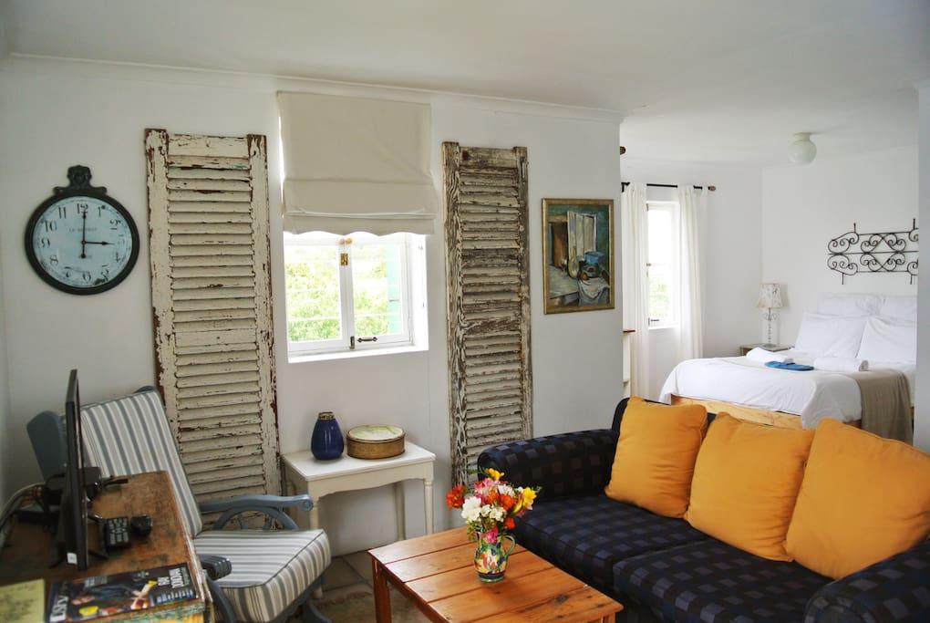 Open Plan living/kitchen/bedroom
