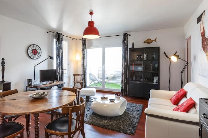 LA FABRIQUE - 2 chambres et parking proche centre