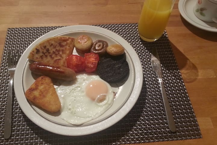 Full Scottish breakfast, included in the price.
