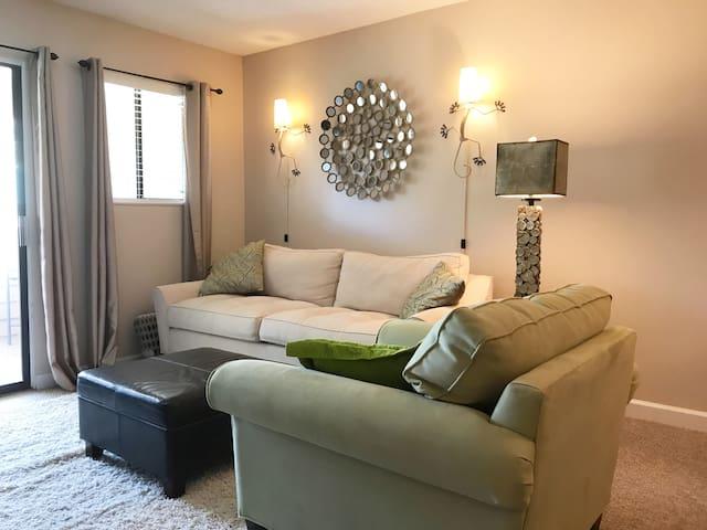 Comfy living area.