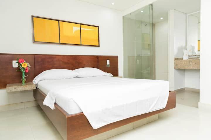 Habitación para 2 o 4 con baño privado