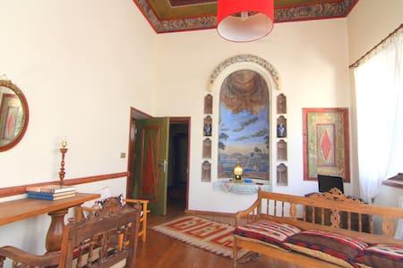 Kadi Evi - A loggia overlooking old Urgup