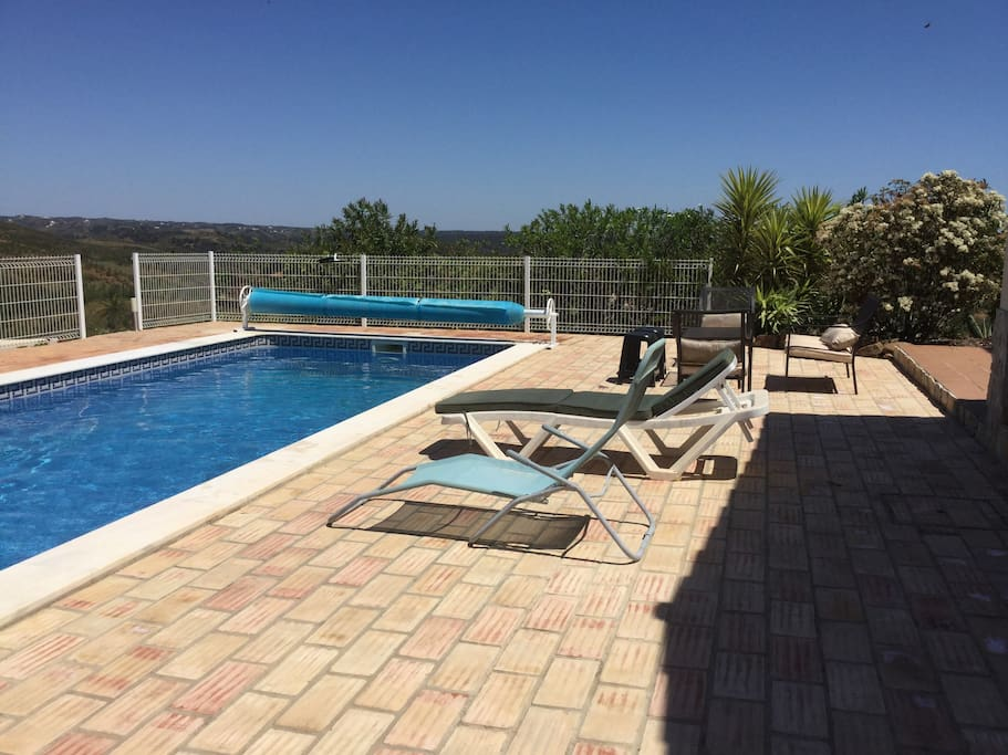 Relax by the pool and enjoy the views and sound if birds and ofcourse the sun!