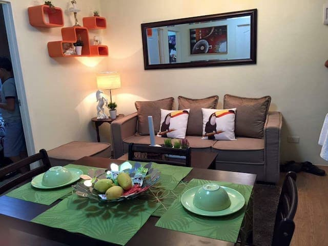 Fully furnished ,2 room condo + WIFI high internet