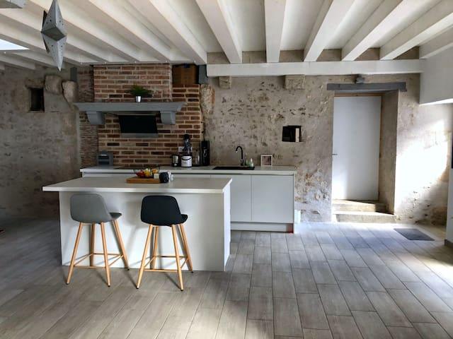 2/4/6 personnes charmante grange rénovée à Blois
