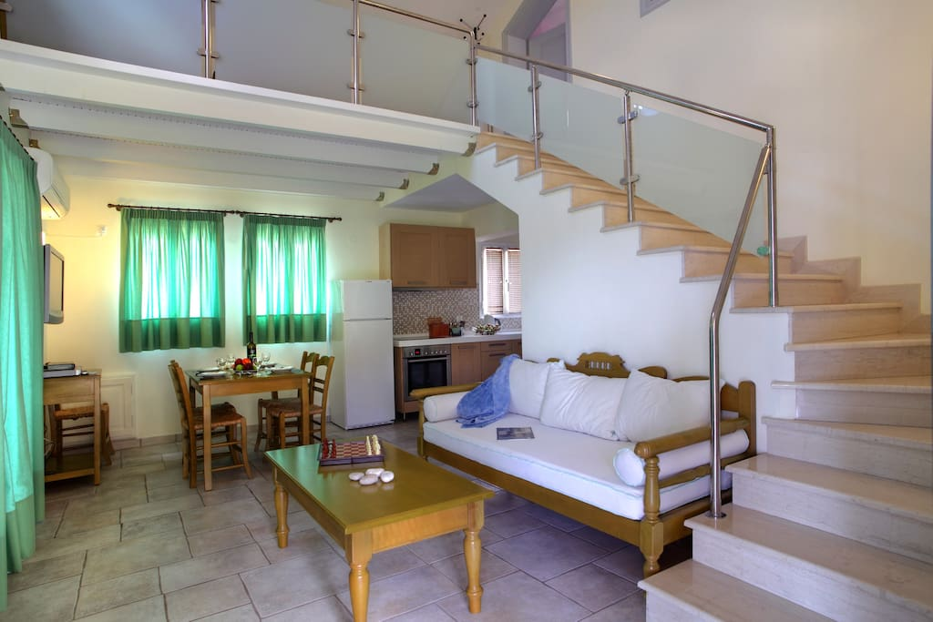 Big apartment-Living room-stairs