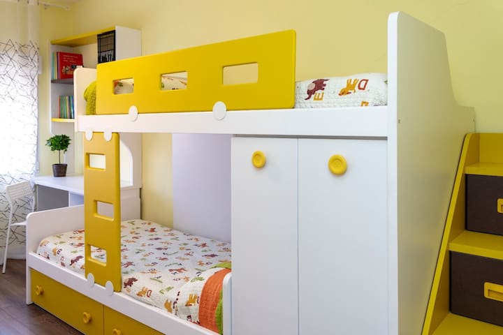 Dormitorio litera, delicia de los niños