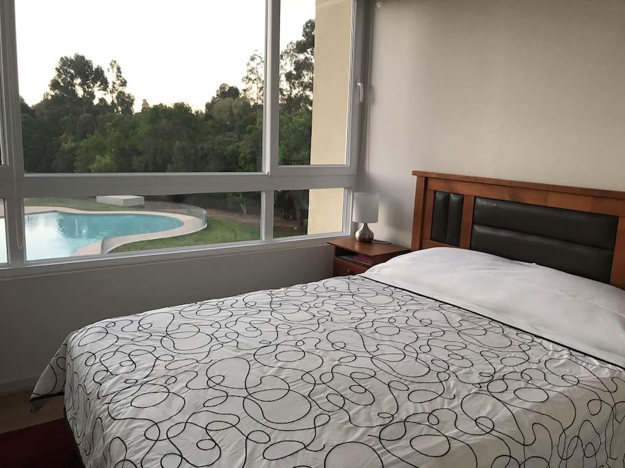 Dormitorio principal con hermosa vista