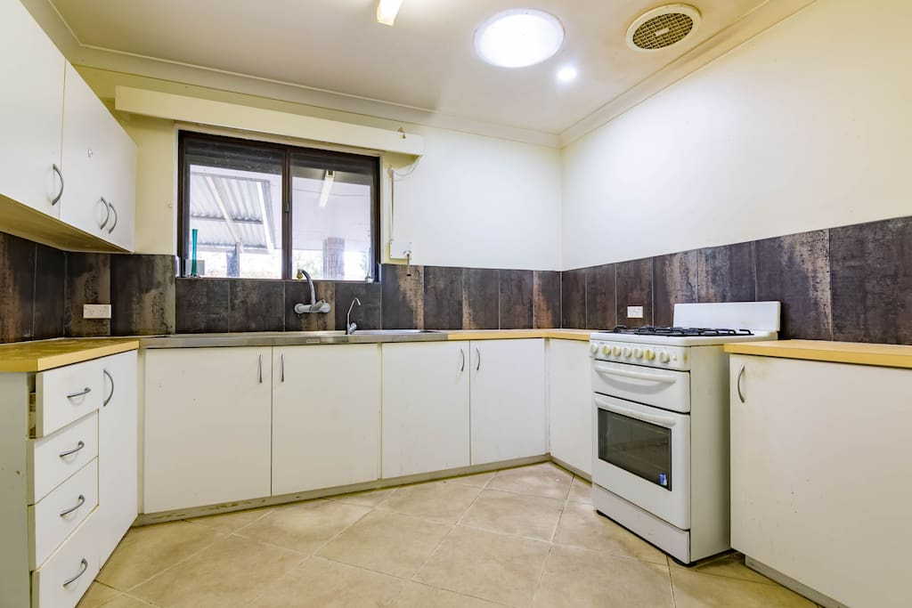 Kitchen with wok gas burner
