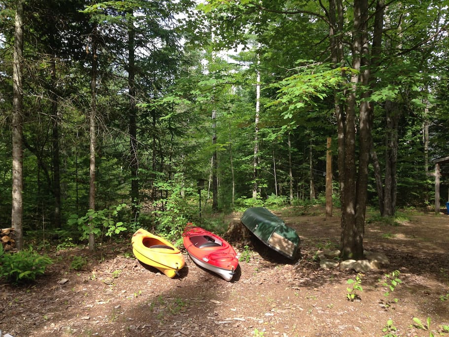 Two kayaks and one canoe available during May-Sept months