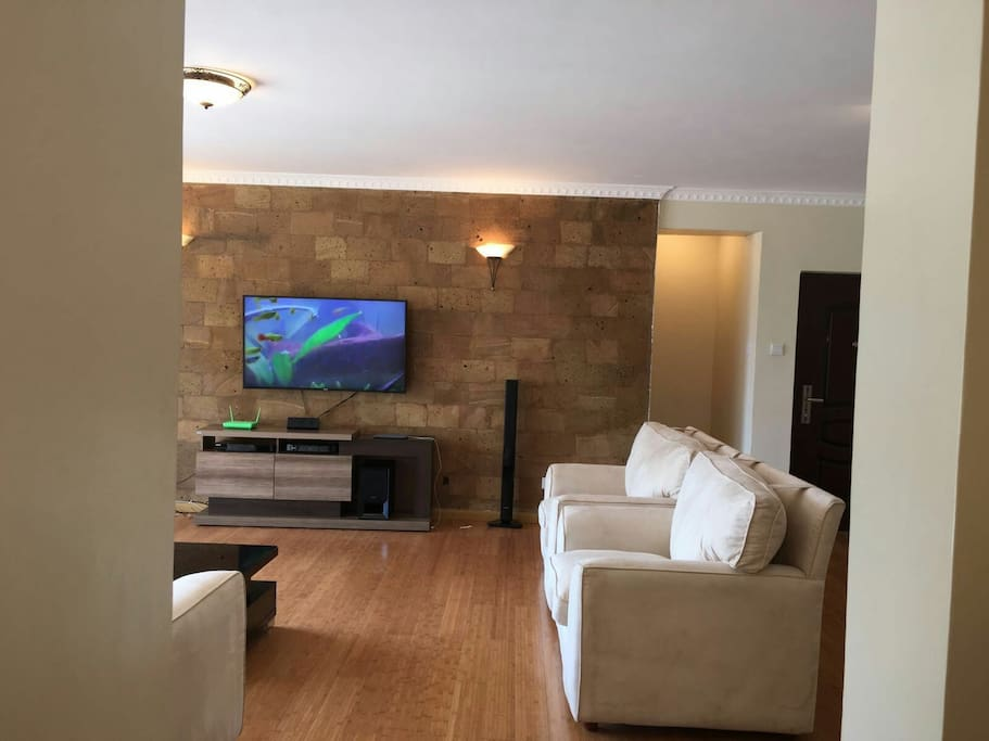 Living room area, WiFi and home theater System hook-up