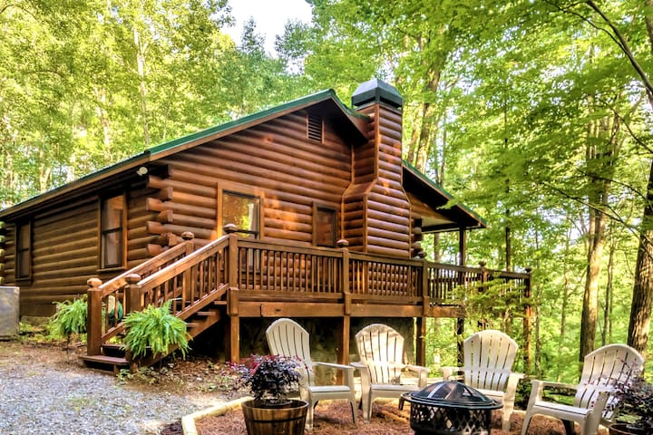 Cozy, Secluded 🌲 Pinecone Cabin ❤ in Ellijay/BR