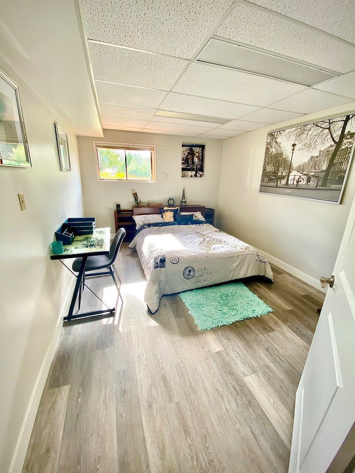 Spacious private guest suite