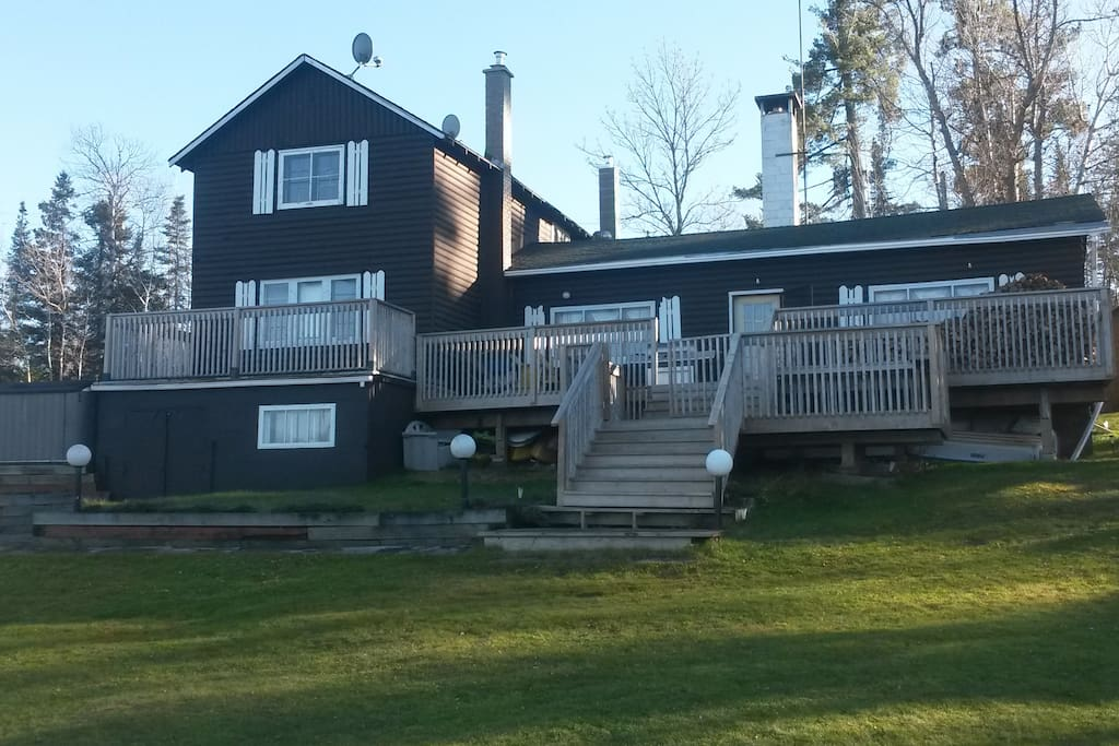 4 Bedroom Log Lodge At Sun Valley Resort Cottages For Rent In Kenora Unorganized Ontario Canada