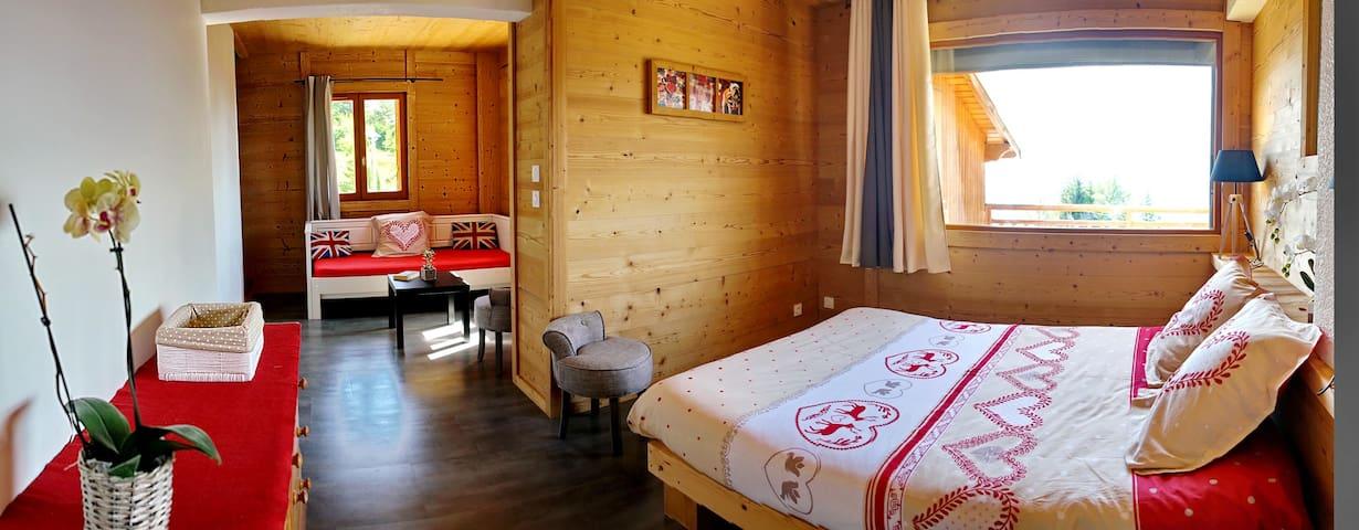 Chambre dans le Chalet La Tuvière à Jarrier