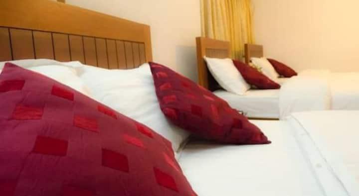 Comfy Family room , sleeps 4 with AC and AiFi