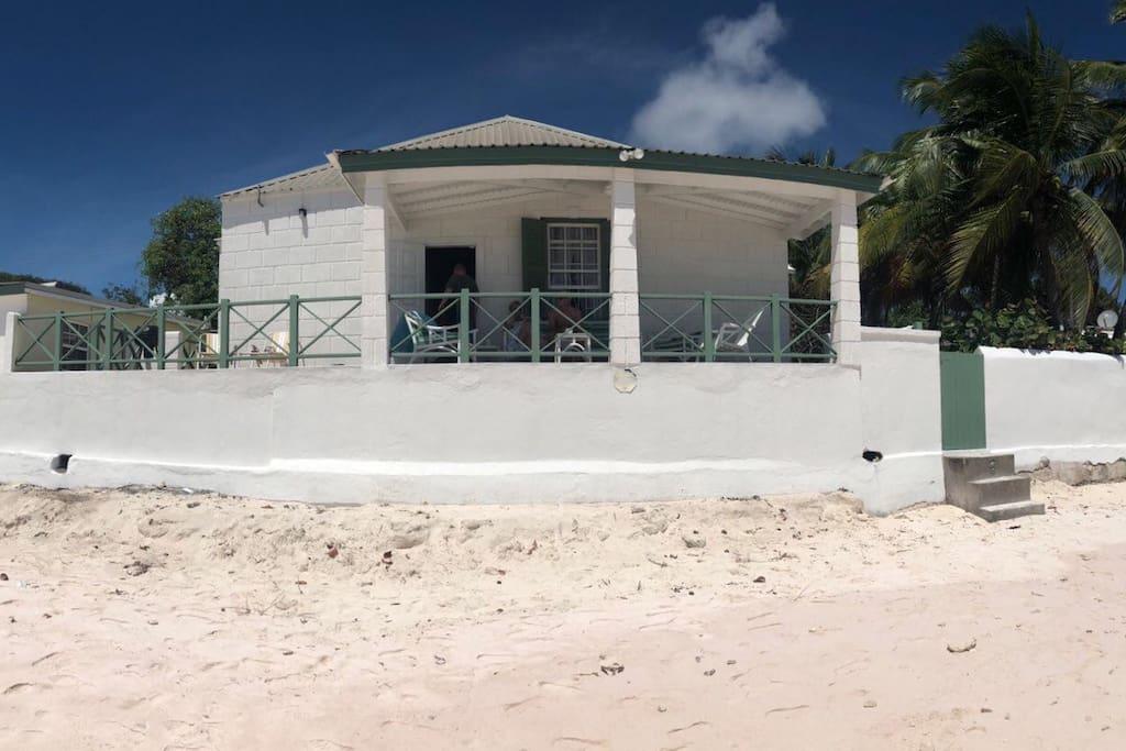 View of veranda from the beach