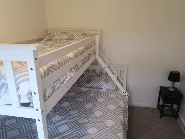Family room single on top double bed on bottom.