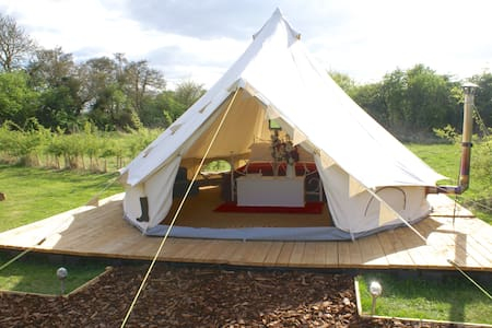 Luxury Glamping - Queen of Hearts Bell tent - 牛津 - 帐篷