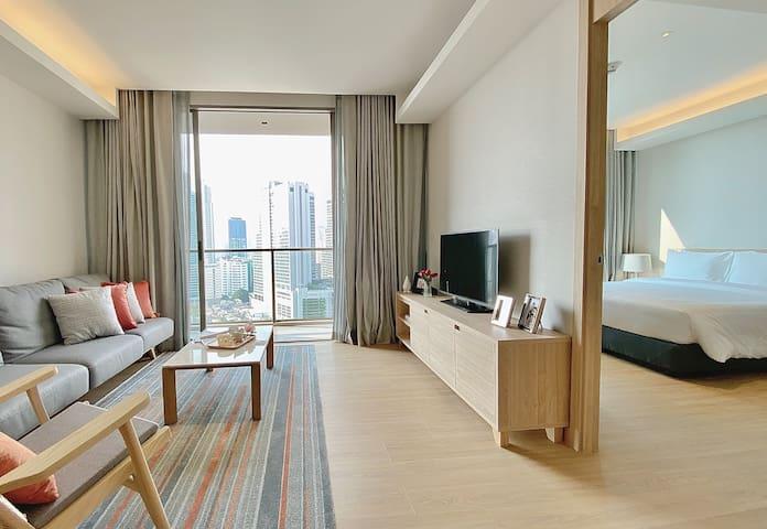 Two Bedroom Deluxe @Oakwood Suites Bangkok