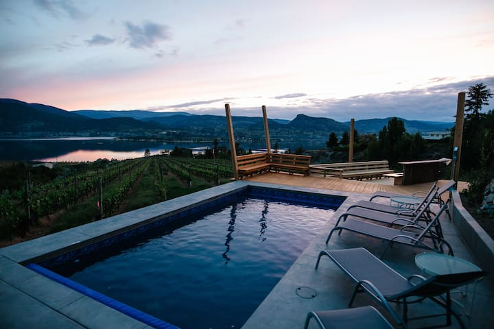 Luxury home on private 9 acre vineyard with pool