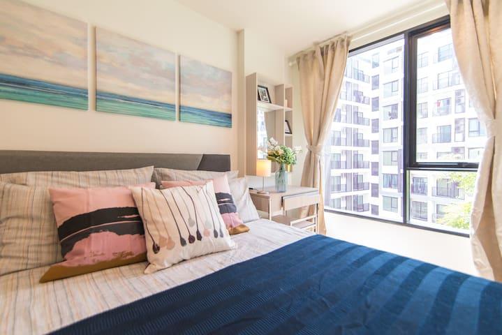 OnNut站附近时尚公寓 高端健身房&泳池 温馨安静经济型一居室  bkb128