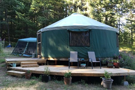 Glamping in a Peaceful Yurt tucked in the forest - White Salmon - Yourte