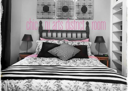 Chic NJ Arts District Bedroom - Rahway