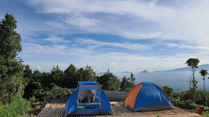 Villa Lumbung Salak City & Mountain View - Tent 2