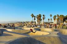 Venice Beach skate park.