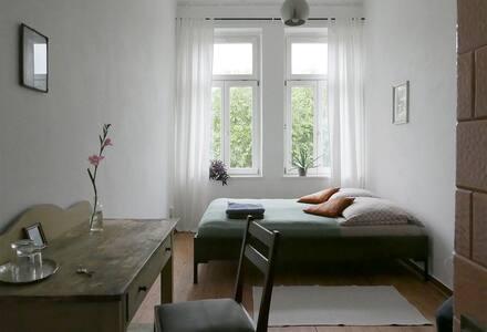 Helles Zimmer mit Blick ins Grüne - Leipzig - Apartment