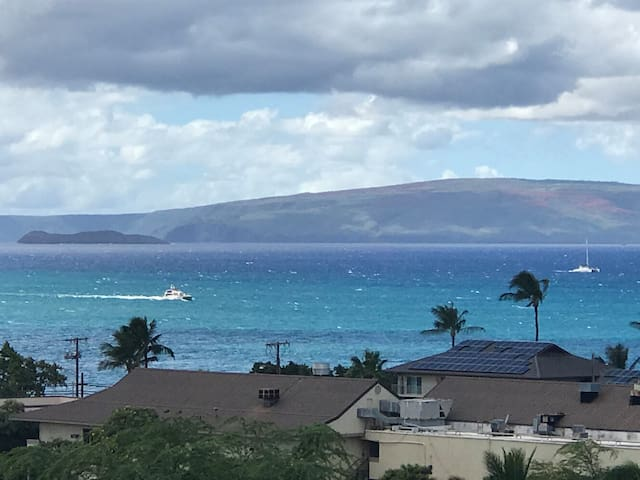 BIG Ocean view! See whales from your private lanai
