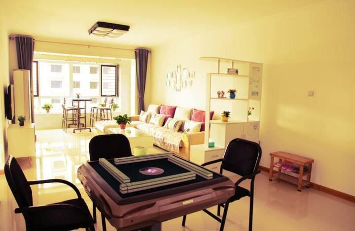 清辰家庭公寓豪华两室,近邻古城公园,廉政广场,超市,银行,