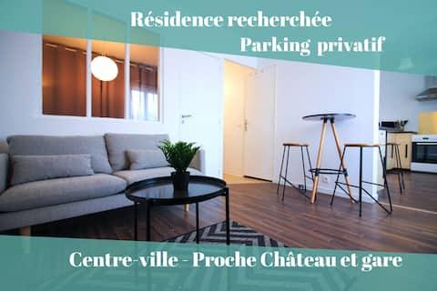 Rousseau_Plaisir - Centre-ville avec parking privé
