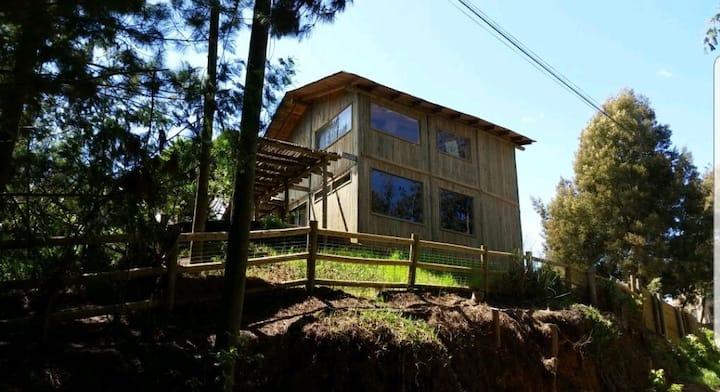 Cabaña en el bosque del lago Vichuquén
