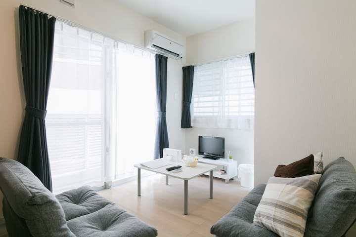 ♪5 mins to Makishi st, Max 2 people, Free Wi-Fi, - Naha - Apartment