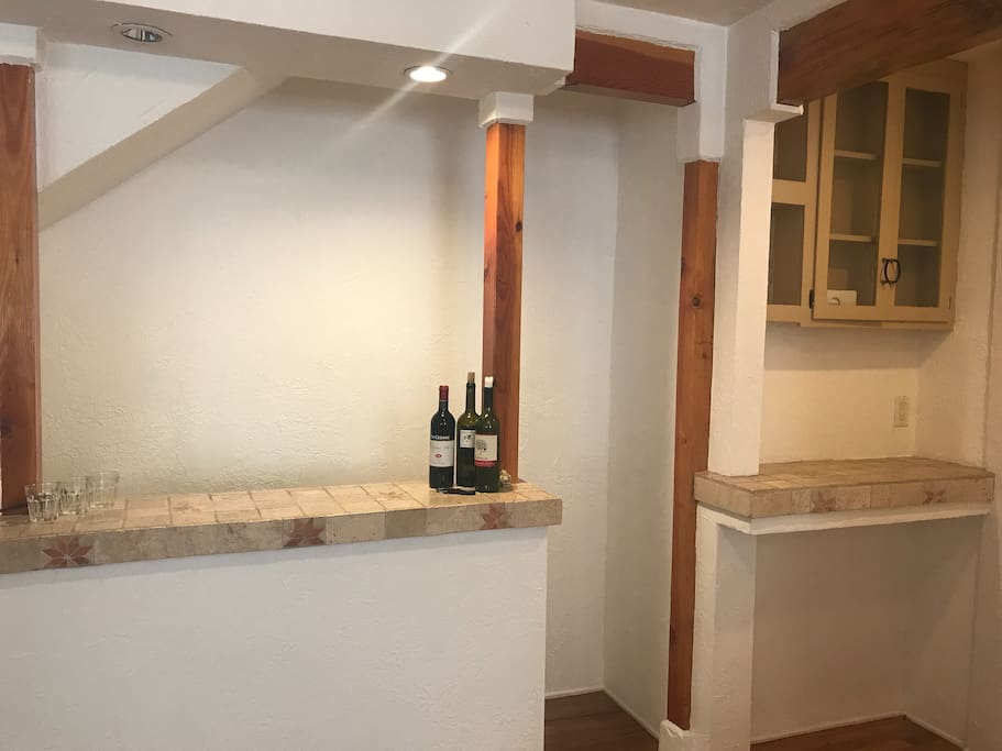 Bar and cabinet space
