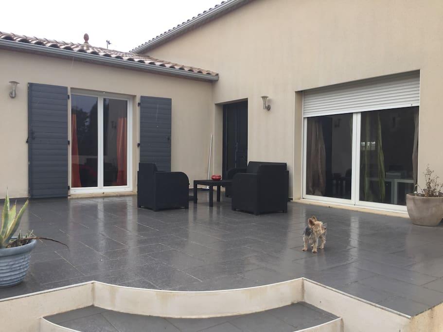 Terrasse principale de 40 m2