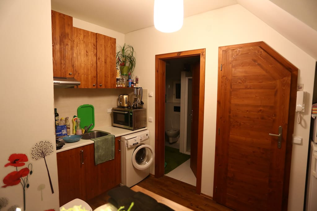 Kitchen and bathroom