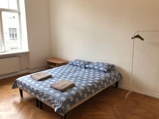 Private bedroom in center