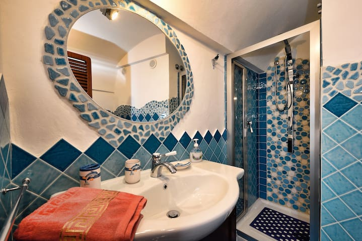 The finely restored bathroom