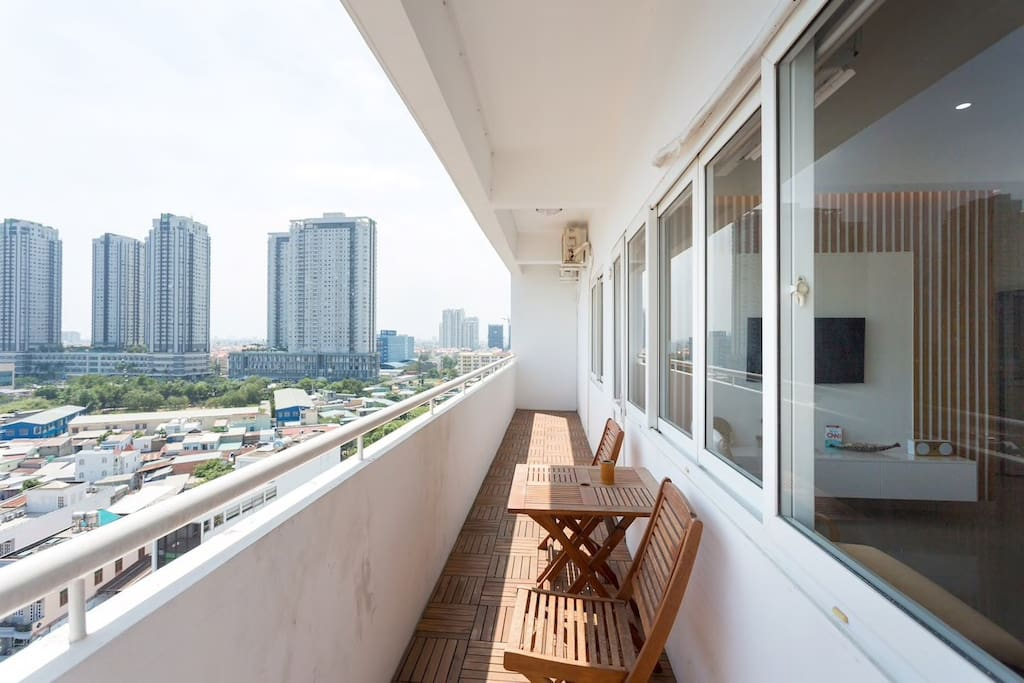 """Remember that famous movie """"Good morning, Vietnam!""""? Well, you can star in your own """"Good Morning/Evening/Night Vietnam"""" from our balcony. A great place to watch the sunrise, sunset or just hang out with friends & family over drinks."""