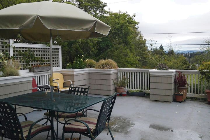 West Seattle House, Deck, View, and Near Beach