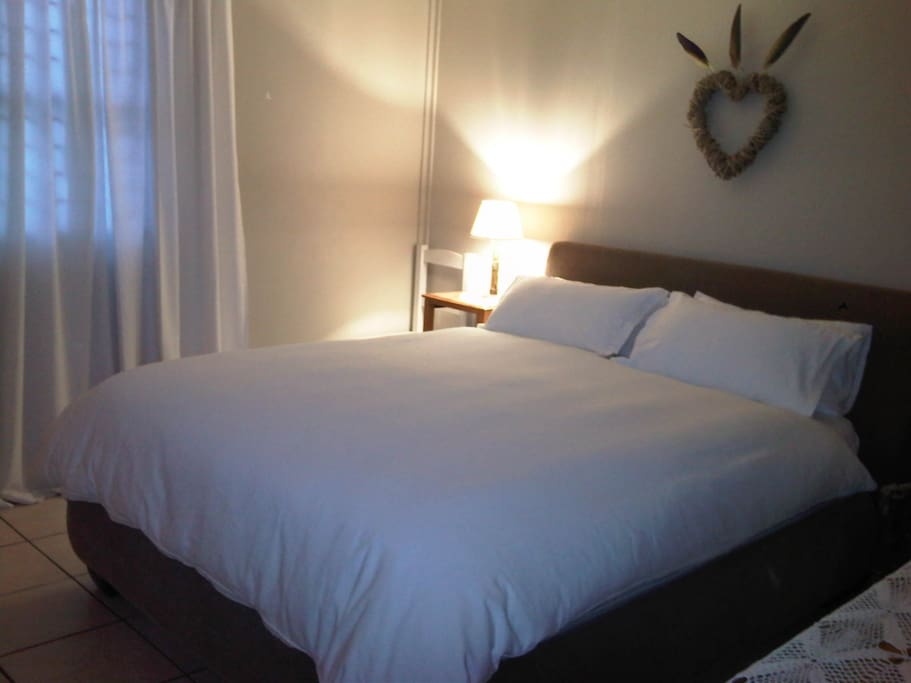 Cozy peaceful room with top quality mattresses and lovely fresh linens...