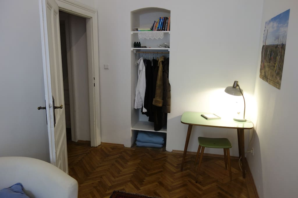 Need to jump on the internet to check out what's happening in Vienna? No problems, the room has a desk and even plenty of floor space for yoga if you like.